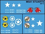 Decals: Stuart Tank Set A