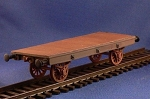 Unarmored train Flat Car (complete kit) (1/56th)