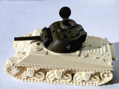 105mm Sherman Turret (resin and metal, for 1/56th tanks)