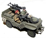 Willy's Jeep SAS Europe includes 2 crew & stowage (1/56th)