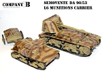 Italian Semovente DA 90/53 & Ammo Carrier (1/56th)