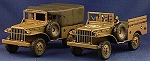 CB-PWAV15 AFV Dodge 3/4 ton 4x4 Weapons Carrier (WC-51/52 3/4 ton)(1/56th)