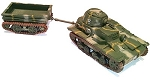 Japanese Type 94 (early) tankette & trailer (1/56th)