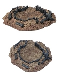 Resin Terrain: MG nest / Medium Open Bunker