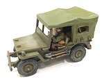US-AFV Willy's Jeep with closed Canopy (1/56th) (crew sold separately)(New version)