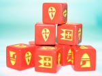 SAGA Dice - Norman / Breton / Franks - Red Dice (8)