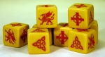 SAGA Dice - Welsh / Strathclyde - Yellow Dice (8)