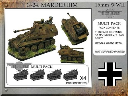 G-24 German Marder IIIM (4 plus crew) (15mm WW2)