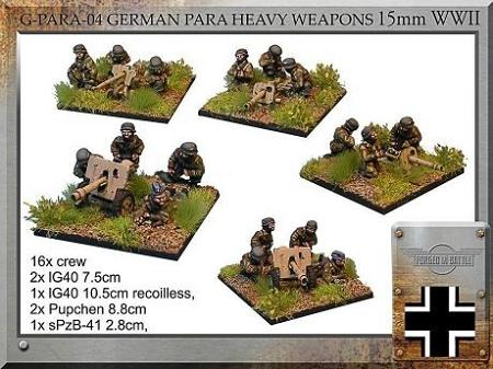 G-PARA-04 German Para Heavy Weapons (15mm WW2)