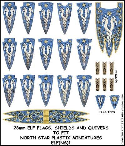 Elf Ns 1 Elf Banner And Shields 1 Banner Shield Transfer