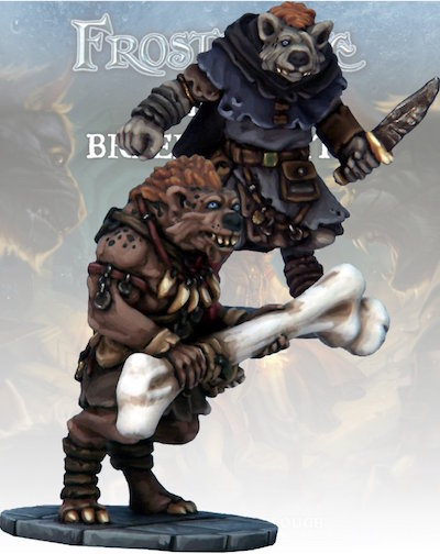 Frostgrave - FGV216  Gnoll Thief and Barbarian
