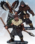 Frostgrave - FGV228 - Barbarian Crow Master & Javelineer