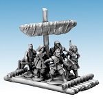 3501 - Raft with Furled Sail (for Frostgrave Ghost Archipelago)