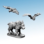 Frostgrave Ghost Archipelago FGA405 - Mountain Goat & Blood-drinker Bats