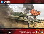 RUB-007  T-34/76 - Early & Mid War (1/56th hard plastic kit)