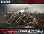 RUB-011 - SdKfz 251/1 Ausf. D Stuka zu Fuss (28mm) (1/56th hard plastic kit)