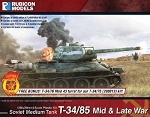 RUB-012  T-34/85 - Mid & Late War (28mm) (1/56th hard plastic kit)