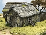 Wattle & Daub Outbuilding  1/56th (Hard Plastic)