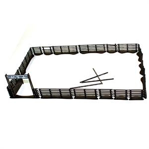 28S-DMH Western Pre-painted 5-Rail Corral Fencing (1/56th)