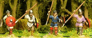 Unarmoured Spearmen Advancing (4)