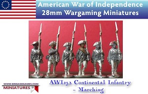 BG-AWI052  Continental Infantry (6) - Marching