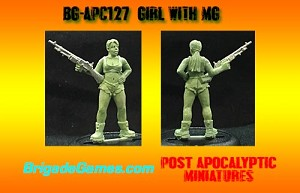 BG-APC127  Girl with heavy weapon