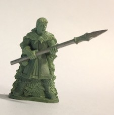 BG-FAC004 Female with cloak and spear - Adventurers of the North Range