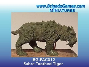 BG-FAC012  Saber-Toothed Tiger - Adventurers of the North Range
