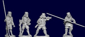 BG-WIAB06  Kings African Rifles Standard Bearers and Buglers (4)