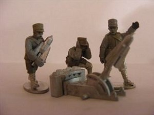 Italian 240mm Trench Mortar & 3 Crew