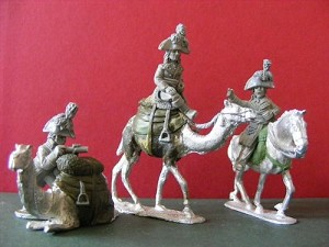 Napoleon Mounted on Camel, Mounted General, General on Foot with Telescope and laying camel (1) (complete set)