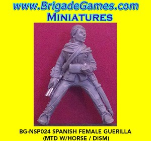 BG-NSP024  Spanish Rebel Woman on Horse with Musket