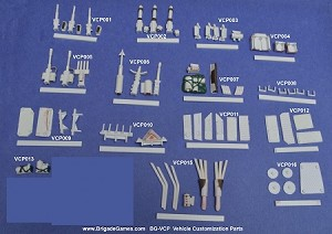 Vehicle Customization Parts - Pick the sprue bundles you want