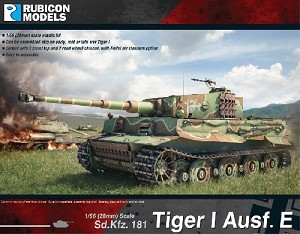Tiger I Ausf. E (1/56th hard plastic kit)