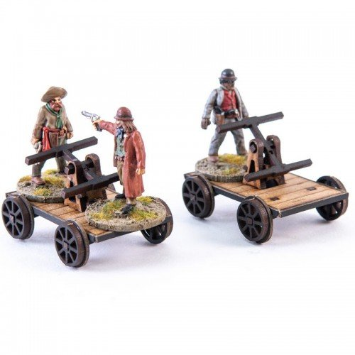 28S-DMH-A21 - 19th C. Hand Cars (1/56th , 28mm)