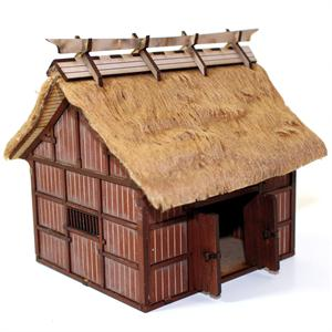 28S-EDO-101 Japanese Village Rice Barn (1/56th Prepainted Building)