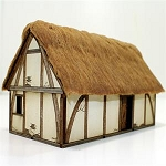 28S-DAR-101 Saxon/Medieval Dwelling Painted (1/56th)