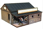 28S-DMH-107 - Main Street Western Pre-painted Marshall's Office (1/56th)