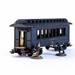 28S-DMH-141 - 19th C. American Passenger Car (Black)(1/56th , 28mm)
