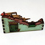 4GD-28S-WAW-112 - Corner Ruins 3  (1/56th Prepainted Building)