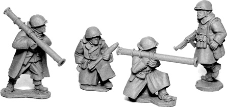 SWW357  U.S. Infantry in Greatcoats - .Bazooka Team