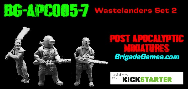 BG-APC005-7  Apocalyptic Wastelanders 2 - Specialists (set of 3)