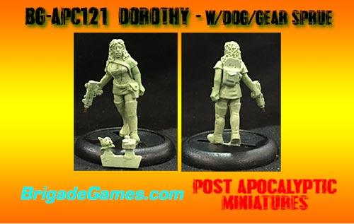 BG-APC121  Dorothy and dog/gear sprue