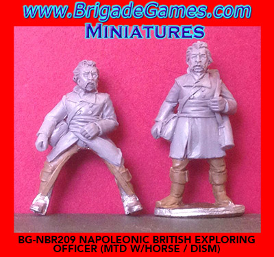 BG-NBR209  British Exploring Officer I - (foot and mounted, includes horse)