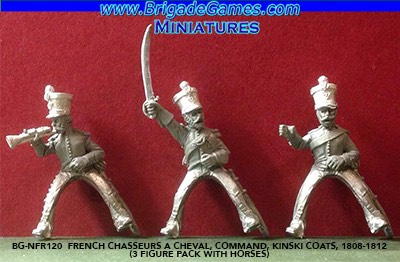 BG-NFR120  French Chasseurs a Cheval, Command, Kinski coats, 1808-1812