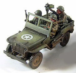 Willys's jeep with winter crew (3) (1/56th)