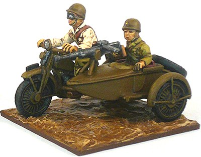 Japanese Motorcycle Sidecar & Machine Gunner