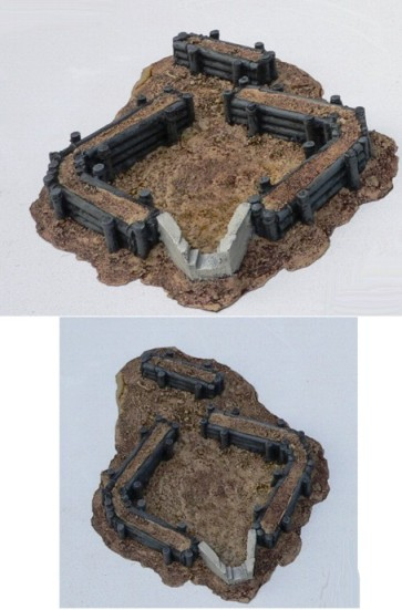 Resin Terrain: Heavy Open Bunker