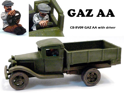 Ford AA/GAZ AA with driver (1/56th)