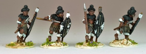 NSA1005 - Matabele Warriors in full Regalia (Insuga Regt.)